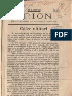 Revista Orion - vara 1908