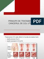 Principii de tratament in cancerul de col uterin