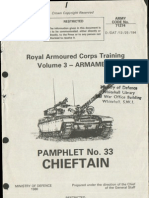 Chieftain Tank Pamphlet No 33 - Armament