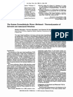 The system formaldehyde-water-methanol thermodynamics