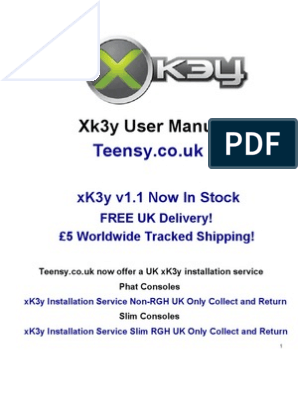 xK3y xKey x360Key xKey 360 Installation and user Manual for Fat