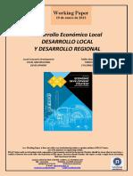 Desarrollo Económico Local. DESARROLLO LOCAL Y DESARROLLO REGIONAL (Es) Local Economic Development. LOCAL AND REGIONAL DEVELOPMENT (Es) Tokiko Ekonomi Garapena. TOKIKO GARAPENA ETA ERREGIO GARAPENA (Es)