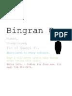 quick facts-Bingran Guo