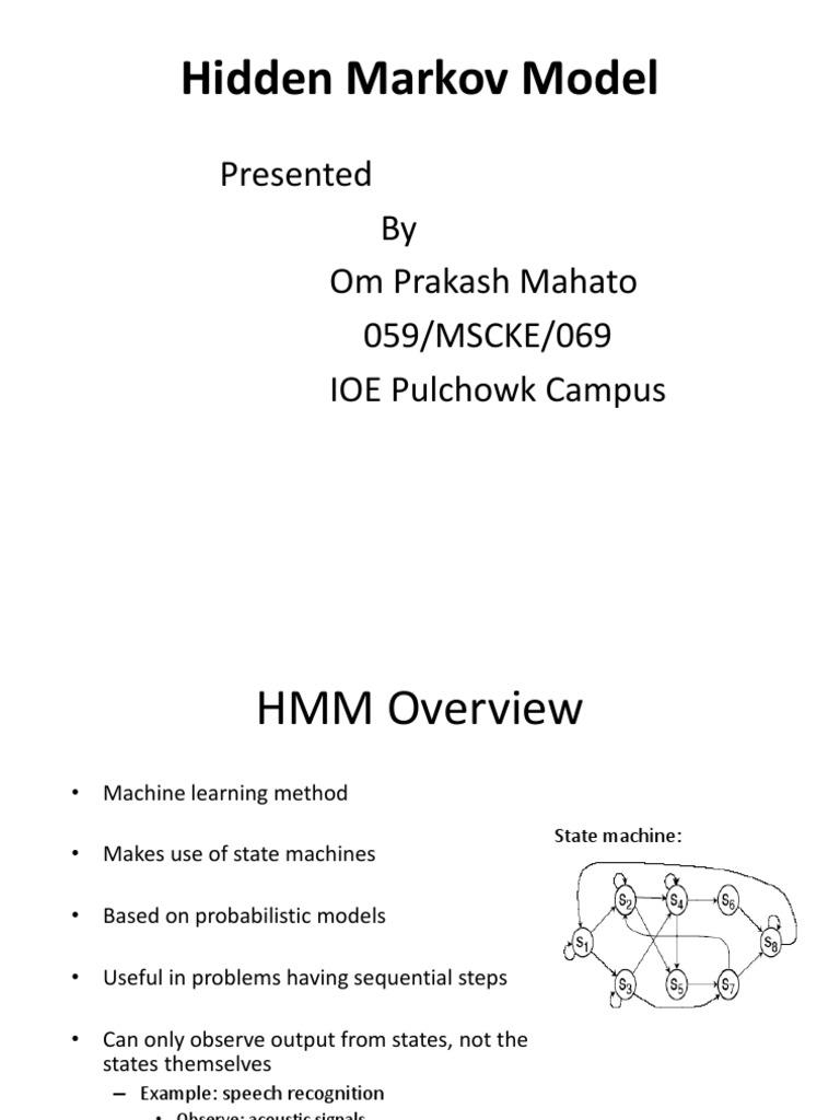 Hidden Markov Model HMM | Markov Chain | Speech Recognition