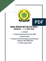 Anggaran Dasar Dan Anggaran Rumah Tangga BP-4 Tahun 2009