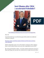 President Obama after 2016