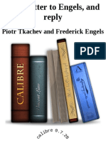 Open Letter to Engels, And Reply - Piotr Tkachev & Frederick Engels