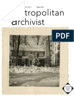 Metropolitan Archivist Vol. 17, No. 1