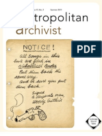 Metropolitan Archivist, Vol. 17, No. 2