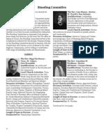 2013 Standing Committee Nominees