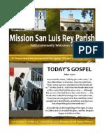 Mission San Luis Rey Parish Bulletin 1-20-2013