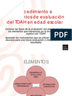 Instrumentos de evaluación TDAH