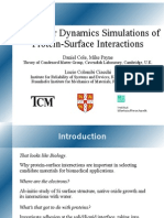 Molecular Dynamics Simulations of Protein-Surface Interactions