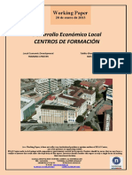 Desarrollo Económico Local. CENTROS DE FORMACION (Es) Local Economic Development. TRAINING CENTERS (Es) Tokiko Ekonomi Garapena. IKASTETXEAK (Es)