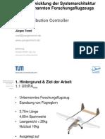 Weiterentwicklung der Systemarchitektur des unbemannten Forschungsflugzeugs UlltRAevo - Presentation