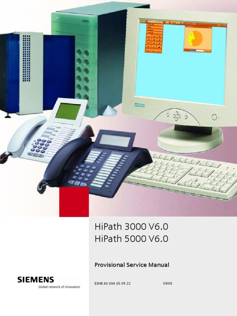 siemens hipath 3000 v6 service manual rh scribd com Siemens HiPath Pro Center Siemens Company