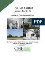 Skyline Farms Heritage Development Plan