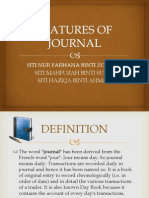 Features of Journal