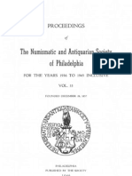 PROCEEDINGS Of  The Numismatic and Antiquarian Society of Philadelphia