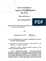 RA 9510 Credit Information Act of 2004