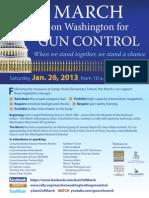 Gun Control March Flyer