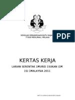 Kertas Kerja Larian Serentak 1 Malaysia SKBG 2011