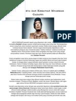Misteri Libya Dan Kematian Muammar Gadaffi