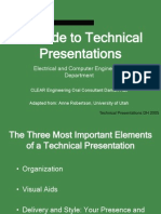 A guide to technical presentation