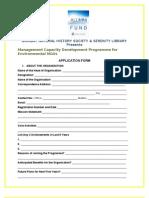 NGO Workshop Application Form