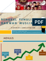 BENGKEL PENULISAN DAKWAH MUSLIMAH