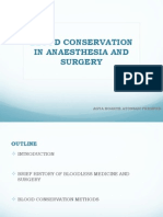 blood conservation methods in anaesthesia and surgery