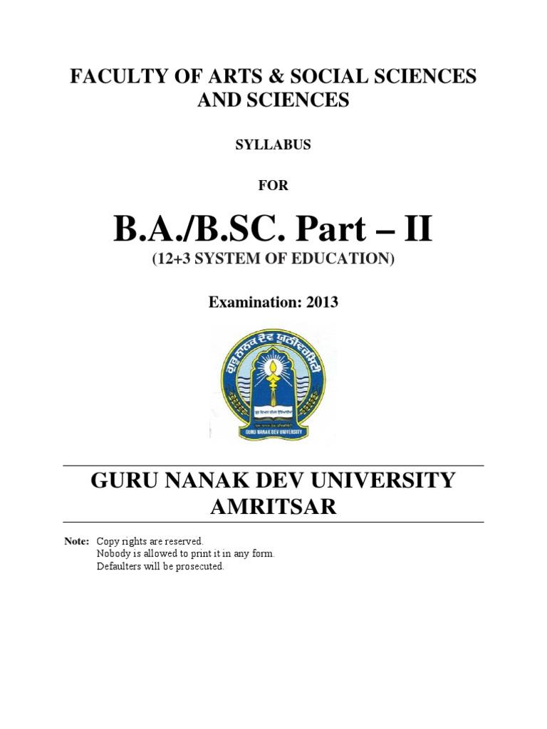 BA Part II