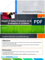 Impact of Sales Promotion on Brand evaluation in Children