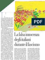 La Falsa Innocenza Degli Italiani Durante Il Fascismo - La Repubblica 20.01.2013