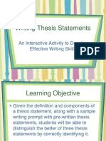 Thesis Statement Practic