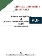 Syllabus MBA 2012