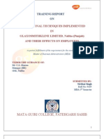 GLAXOSMITHKLINE PROJECT REPORT
