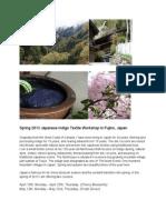Spring 2013 Indigo Workshop in Japan