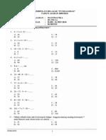 Soal Matematika SD Kelas 3 Semester 2