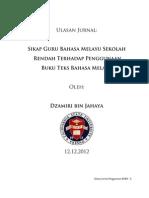 Penggunaan Buku Teks Bahasa Melayu