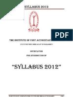 ICWAI Revised Syllabus 2012