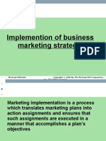 implementation of business marketing strategy
