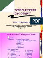 5 Medikasi Pada Usia Lanjut