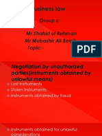 negotiation by unauthorized parties
