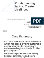 SELCO case analysis