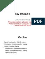 Ray tracing info