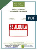 POLÍTICAS DE VIVIENDA. DESENFOQUE Y REENFOQUE (Es) HOUSING POLICIES, BLUR AND APPROACH (Es) ETXEBIZITZA POLITIKAK. DESENFOKEA ETA BERRIFO ENFOKATZEA (Es)