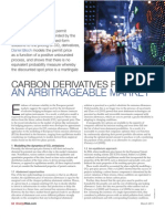 Carbon Derivatives Pricing - An Arbitrageable Market