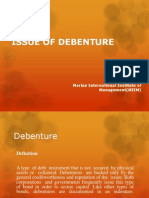 Issue of Debenture