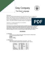 The Grey Company's Elven